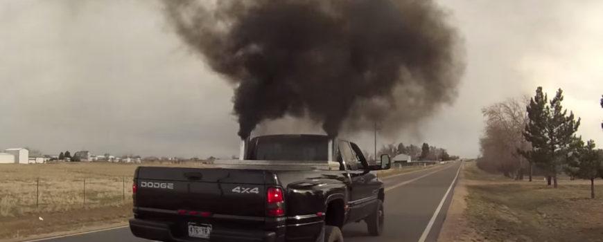 pickup truck rolling coal 100476001 h